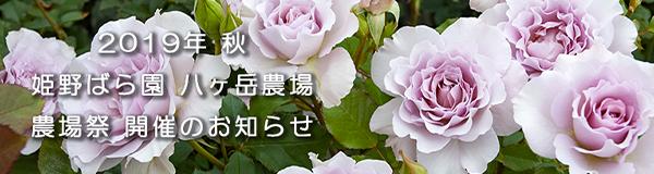 2019年秋 農場祭のお知らせ